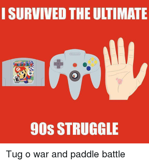 Funny, Struggle, and 90's: I SURVIVED THE ULTIMATE  90S STRUGGLE Tug o war and paddle battle