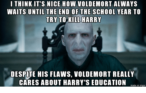 i think its nice how voldemort always waits until the 10425313 ✅ 25 best memes about end of the school year end of the school