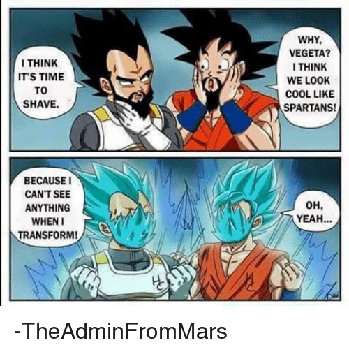 Memes Transformers And Vegeta I Think Its Time To Shave Because I