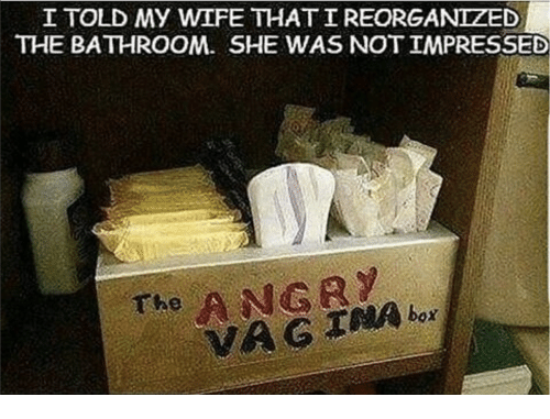 Wife She And Vag I Told My Wife Thatireorganized The Bathroom She