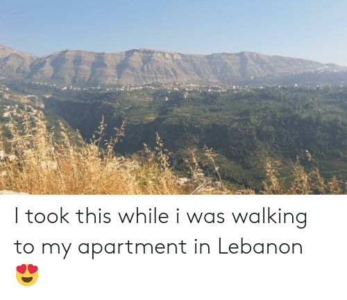 Lebanon, This, and Walking: I took this while i was walking to my apartment in Lebanon 😍
