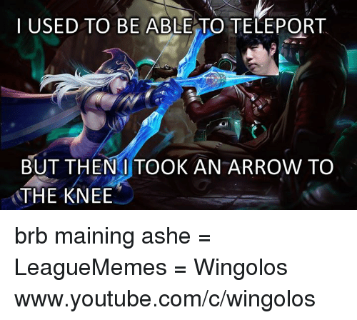 Then I Took An Arrow To The Knee