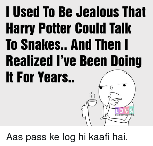 I Used to Be Jealous That Harry Potter Could Talk to Snakes