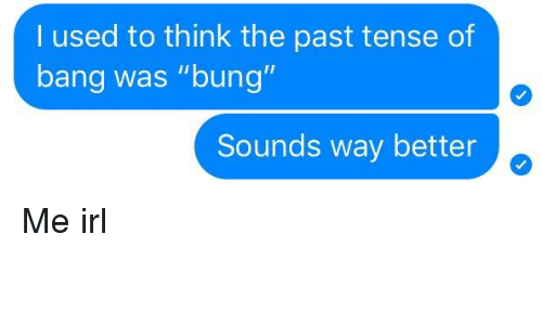 used to past tense