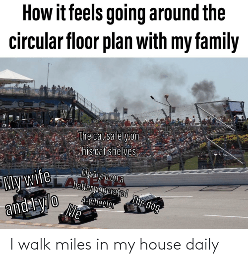 My House, Reddit, and House: I walk miles in my house daily