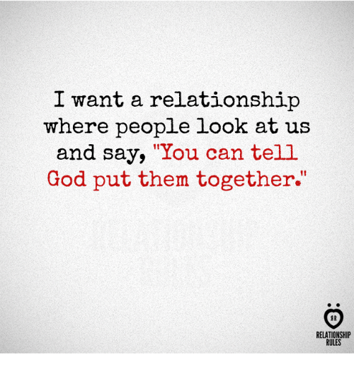 god wants a relationship with many people