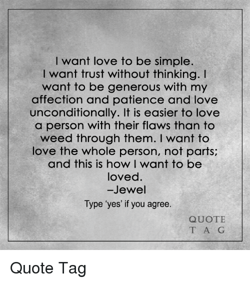 Quots · Next. Memes, Affect, And Patience: I Want Love To Be Simple. I Want