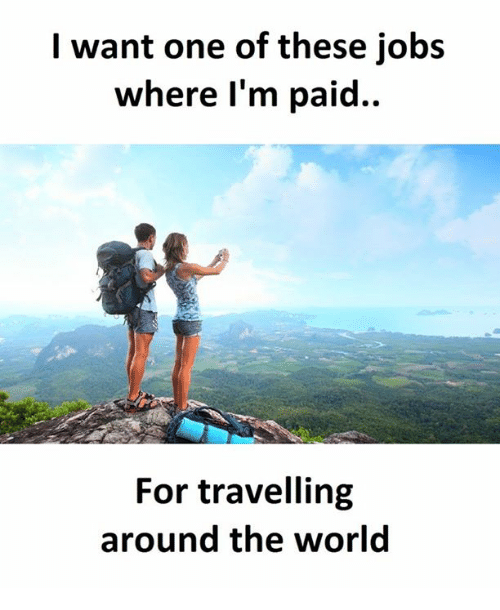 Jobs Related To Travelling Around The World