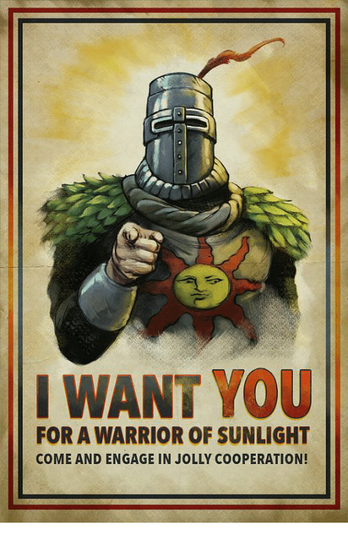 Dark Souls on Switch it is a real thing and I am very excited, god bless and praise the sun. :sunny: - Page 2 I-want-you-for-a-warrior-of-sunlight-come-and-28891344