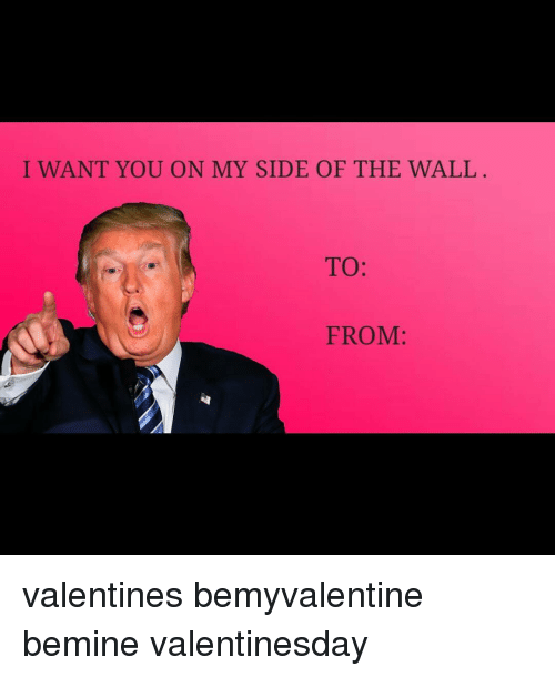 I Want You On My Side Of The Wall To From Valentines Bemyvalentine