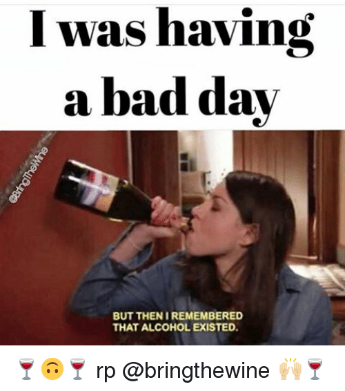 i was having a bad day but then iremembered that 2232853 i was having a bad day but then iremembered that alcohol existed