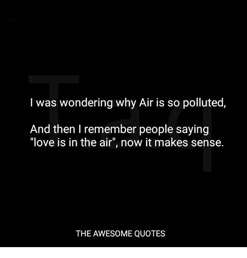 I Was Wondering Why Air Is So Polluted And Then I Remember People
