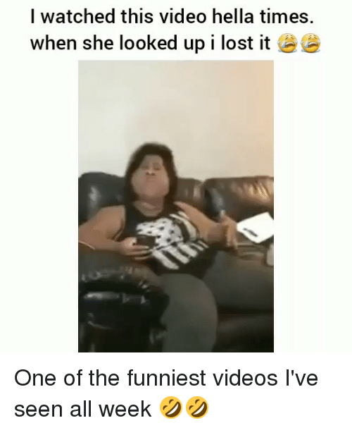 Memes, Videos, and Lost: I watched this video hella times.  when she looked up I lost it逧 One of the funniest videos I've seen all week 🤣🤣
