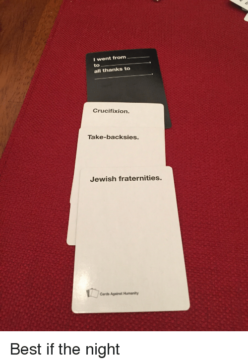 Take backsies cards against humanity