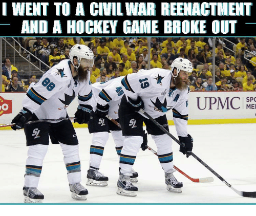 I Went To A Civilwar Reenactment And A Hockey Game Broke Out Spo