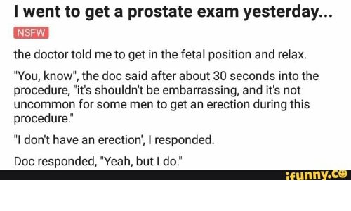 The doc is giving him an exam