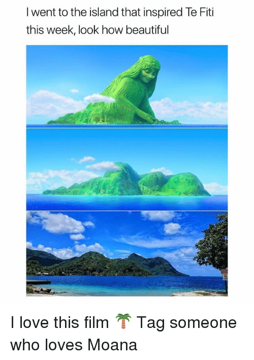 Beautiful, Love, and Memes: I went to the island that inspired Te Fiti  this week, look how beautiful I love this film 🌴 Tag someone who loves Moana