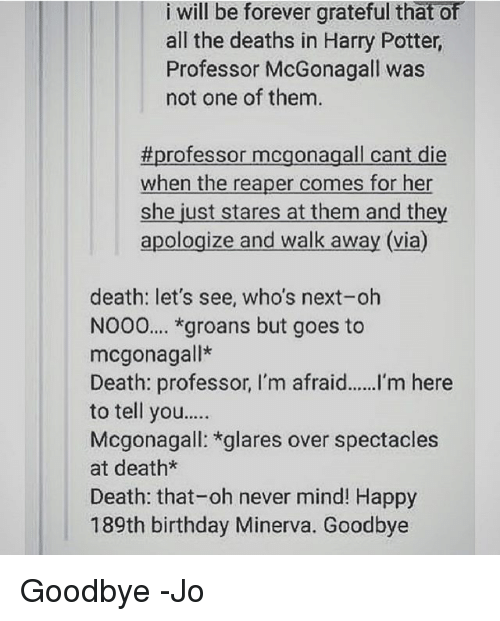 Who is next death professor