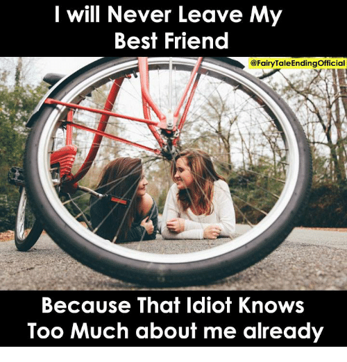 dad313fe546 I Will Never Leave My Best Friend Because That Idiot Knows Too Much ...