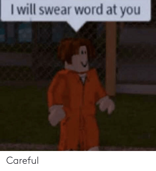 Word, Will, and You: I will swear word at you Careful