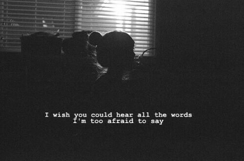 All The, The Words, and All: I wish you could hear all the words  I'm too afraid to say