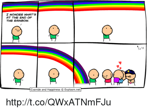 I Wonder Whats At The End Of The Rainbow Cyanide And Happiness
