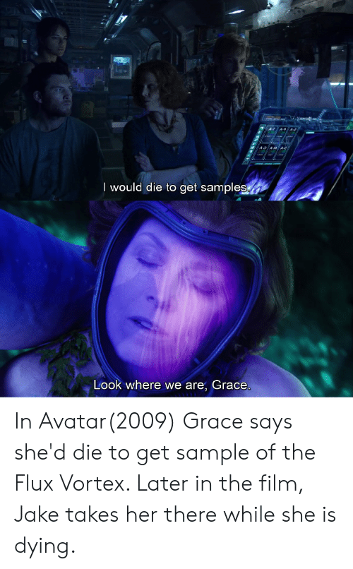 I Would Die to Get Samples Look Where We Are Grace in Avatar2009