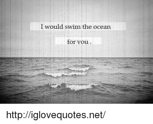 Http, Ocean, and Net: I would swim the ocean  for you http://iglovequotes.net/