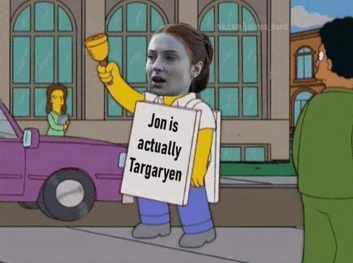 Game of Thrones,  Targaryen, and Jon: ian  Jon is  actually  Targaryen