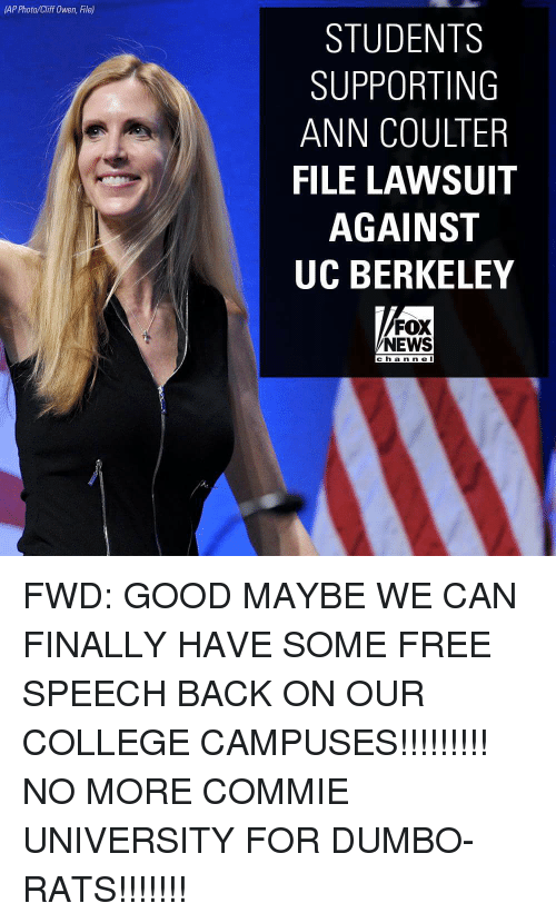 IAP Photocliff Owen File STUDENTS SUPPORTING ANN COULTER