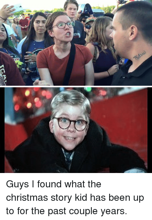 Christmas Story Meme.Ica Guys I Found What The Christmas Story Kid Has Been Up To