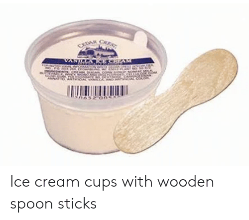 Ice Cream Cups With Wooden Spoon Sticks Meme On Meme