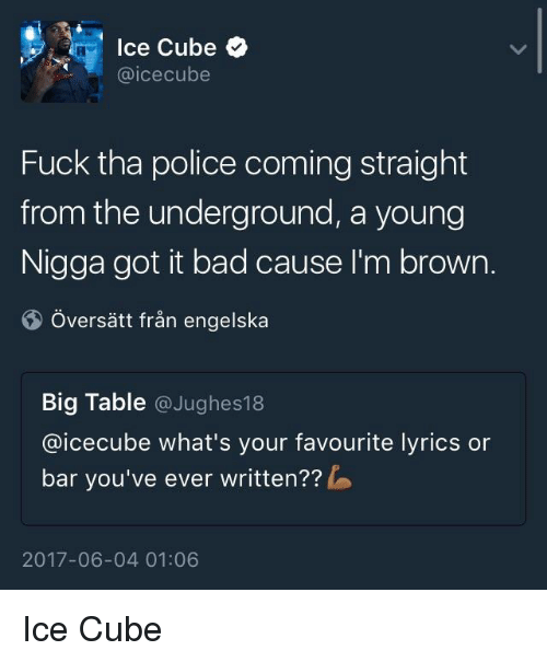 Consider, that fuck the police lyric sense