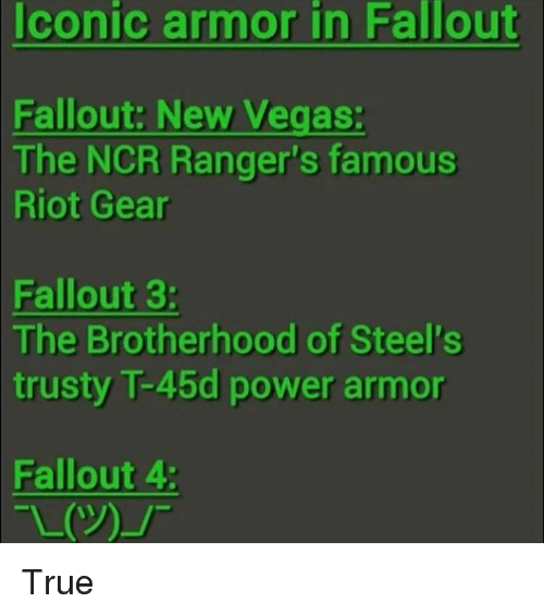 Iconic Armor In Fallout Fallout New Vegas The Ncr Rangers Famous