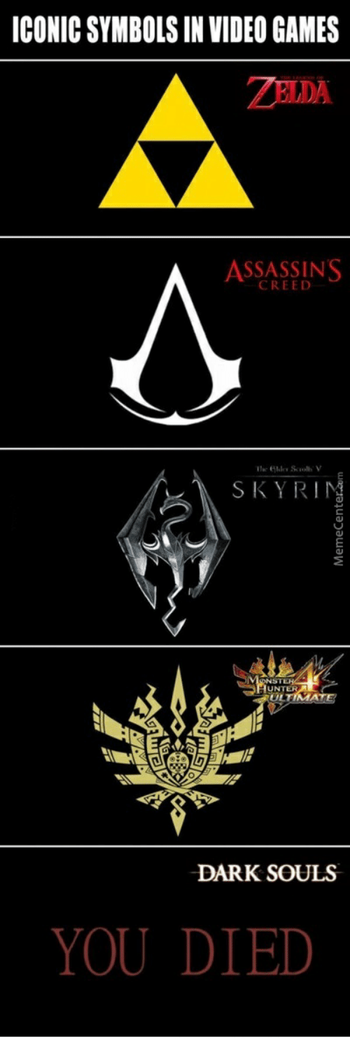 Iconic Symbols In Video Games Zelda Assassins Creed Skyrinm Onst