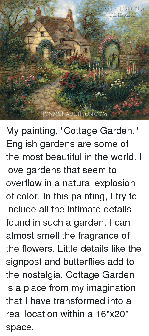 Memes Nostalgia And ICONMONAUCHTON COM RT My Painting Cottage Garden