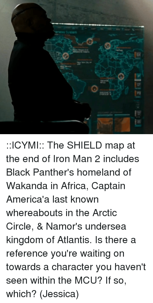 Icymi The Shield Map At The End Of Iron Man 2 Includes Black