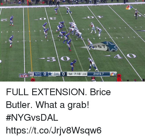 Memes, 🤖, and Butler: ID &  NYG 0  DAL 1st 7:18 :15  0  2 FULL EXTENSION.  Brice Butler. What a grab! #NYGvsDAL https://t.co/Jrjv8Wsqw6