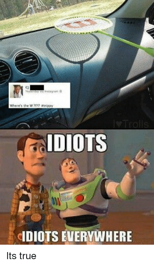 True, Everywhere, and Idiots: IDIOTS  DIOTS EVERYWHERE Its true