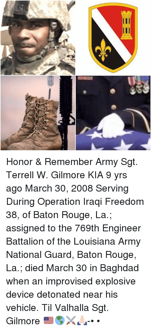 Ieee Honor Amp Remember Army Sgt Terrell W Gilmore Kia 9 Yrs