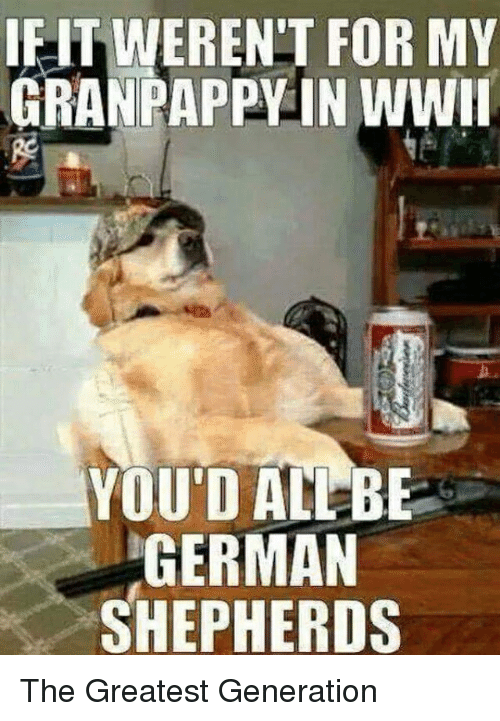 Ieitweren T For My Granpappy In Wwii You Dadlber German Shepherds