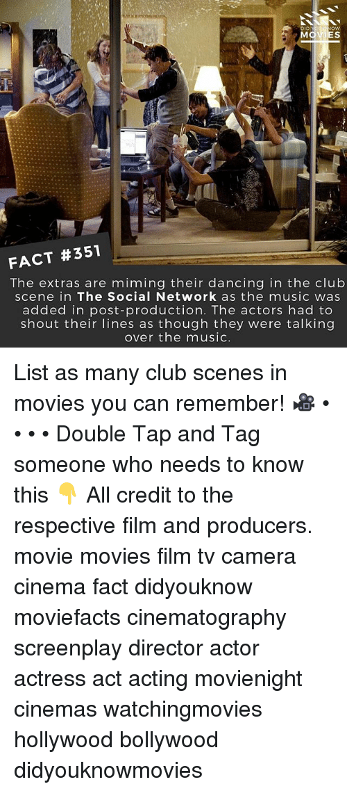 Club, Dancing, and Memes: IES FACT #351 The extras are miming their