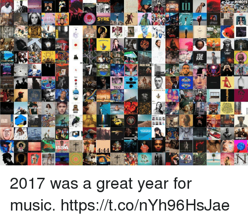 Music, Girl Memes, and Sun: IES ROBOTS  SYRE  MOD SUN  COLOURS 2  IS  4:44 2017 was a great year for music. https://t.co/nYh96HsJae