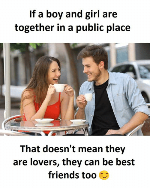 Boy and girl dating conversation