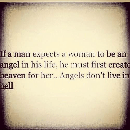 what a man expects from his woman