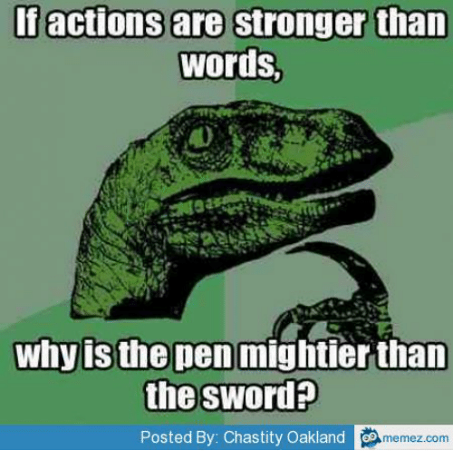 the pen is mightier than the sword figure of speech