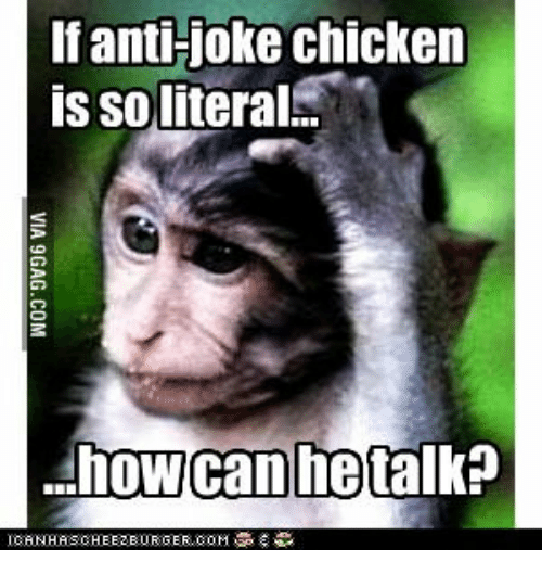 Image result for anti-joke chicken