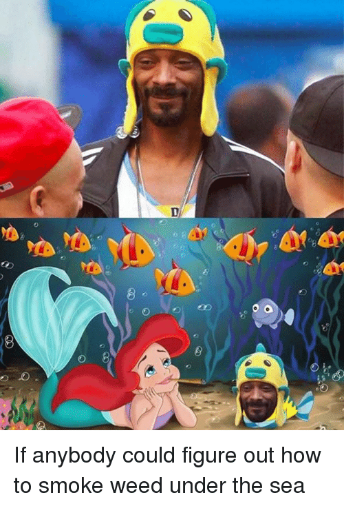 Funny, Weed, and How To: If anybody could figure out how to smoke weed under the sea