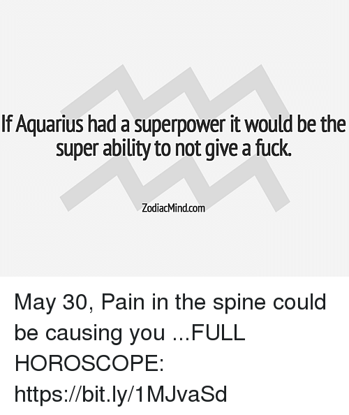 If Aquarius Had a Superpower It Would Be the Super Ability