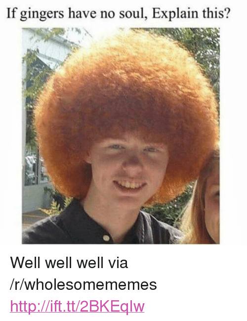 """Http, Soul, and Via: If gingers have no soul, Explain this? <p>Well well well via /r/wholesomememes <a href=""""http://ift.tt/2BKEqIw"""">http://ift.tt/2BKEqIw</a></p>"""